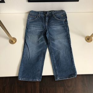 Justice jeans faded wash Capri style